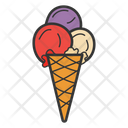 Ice Cream Sundae Ice Cream Cone Frozen Food Icon
