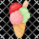 Cream Cone Waffle Icon