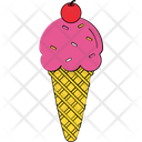 Frozen Dessert Sorbet Sundaes Cone Icon