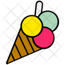 Summer Ice Cream Cone Icon