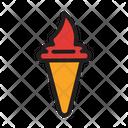 Beach Cone Cream Icon