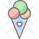 Icecream Cone Desert Icon
