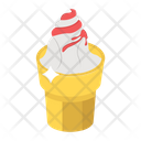 Gelato Ice Cream Cup Summer Dessert Icon