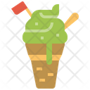 Ice cream dessert sweet food summer Icon