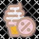 Ice Cream Discount Icon