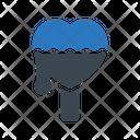 Ice Cream Heart Icon