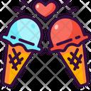 Ice Cream Love Sweet Icon