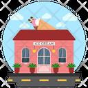 Ice Cream Parlour Ice Shop Snack Point Icon