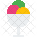 Ice Cream Scoops Food Icon