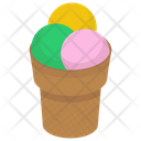 Ice Cream Scoops Ice Cream Dessert Icon