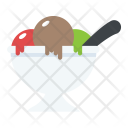 Ice Cream Scoops Cup Icon
