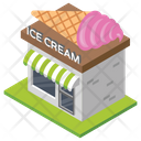 Ice Cream Shop Bakery Ice Cream Store Icon
