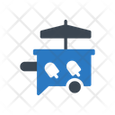 Icecream Stall Umbrella Icon
