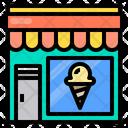 Ice Cream Store Shop Icon