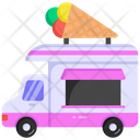 Ice Cream Truck Ice Cream Van Dessert Van Icon