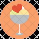 Ice cream with heart Icon