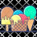Ice Creams Cone Ice Creams Sweet Icon