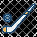 Ice Hockey Hockey Stick Puck Icon
