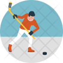 Sportsman Hockey Player Icon