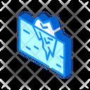 Iceberg Melting Isometric Icon