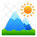 Mountain Landscape View Icon