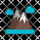 Ice Mountain Mountain Cloud Icon