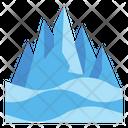 Ice Mountain Mountains Snow Icon