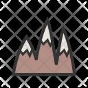Ice Top Mountain Icon
