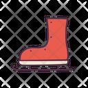 Ice Skate Santa Shoes Winter Icon