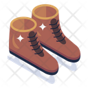 Ice Skates Footwear Footgear Icon