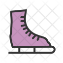Ice Skating Shoe Icon
