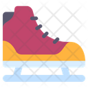 Ice Skating Ice Sport Footware Icon