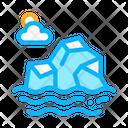 Iceberg Sea Landscape Icon