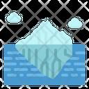 Iceberg Mountain Landscape Icon