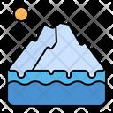 Iceberg Glacier Melt Icon
