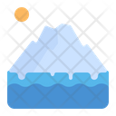 Iceberg Glacier Melt Icon