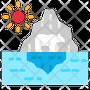 Iceberg Glaciers Polar Icon