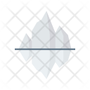 Iceberg Mountains Water Icon