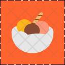 Icecream Chocolate Strawberry Icon