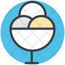 Icecream Scoops Dessert Icon