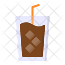 Iced Coffee Ice Icon