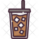 Iced Coffee Cafe Cold Drink Icon