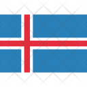 Iceland National Country Icon