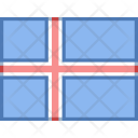 Iceland Flag Country Icon