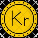 Iceland Krona Coin Money Icon