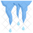 Icicle Melts Ice Snow Icon