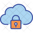 Cloud Data Lock Icon