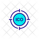 Ico Target Initial Coin Offering Icon