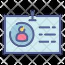 Identity Card Office Icon