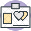 Id Card Hearts Icon
